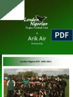 Arik Air -LNRFC Ambassadors 20th Anniversary Tour v0.3