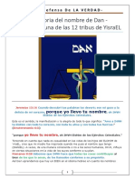 "La Historia del Nombre de ""DAN"" - El Padre de Uno de Los 12 Tribus de YsraEL"