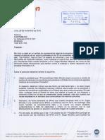 Carta de Promedon S.A.
