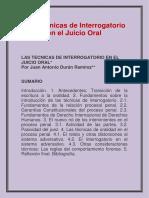 Las Técnicas de Interrogatorio en El Juicio Oral