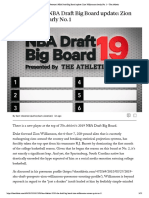 Sam Vecenie's NBA Draft Big Board Updat...Illiamson Clearly No. 1 – the Athletic