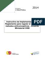Instructivo de Implementación Del Acuerdo Ministerial 2490 Aprobado