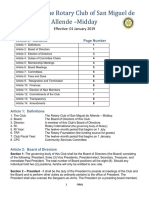 By-Laws of Rotary Midday Eff. January 2019 (Amended 7/2019)