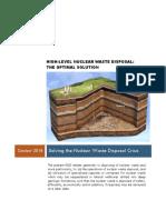 Optimal Disposal of Nuclear Waste- Udgr System