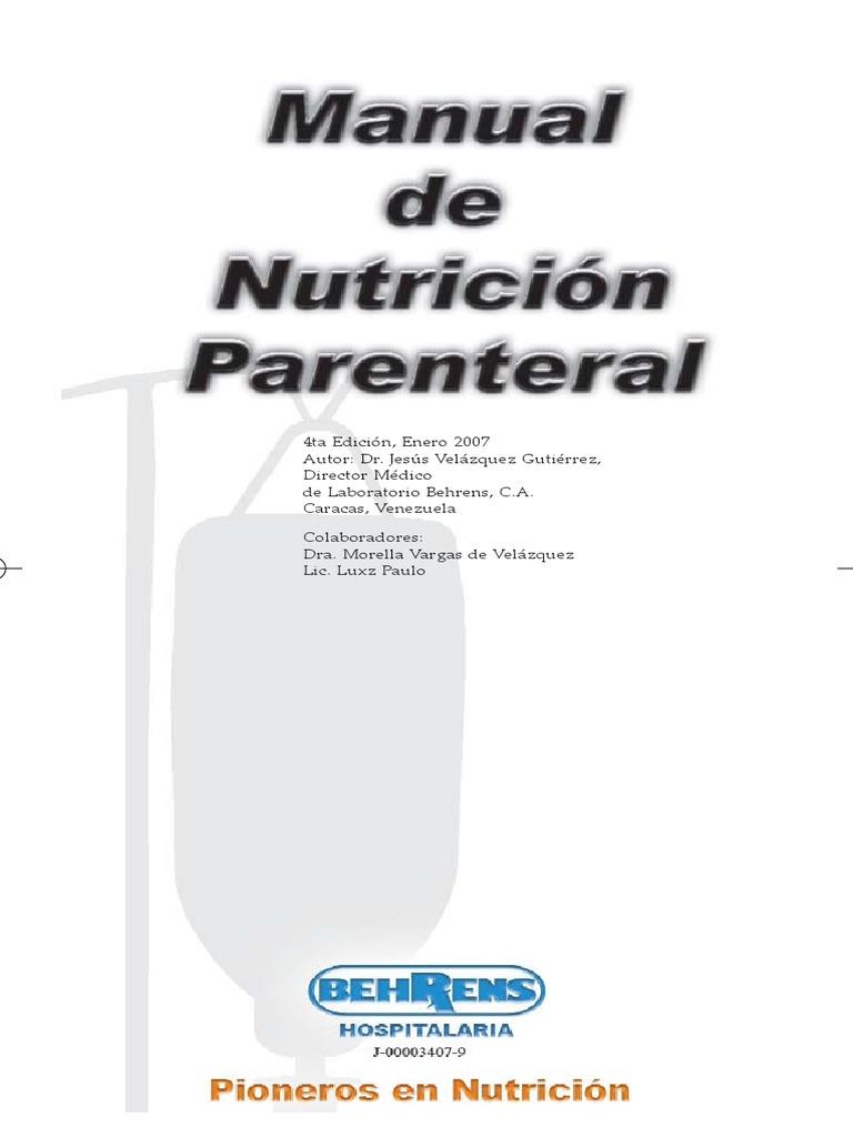 Manual Nutricion Parenteral Dr. Velazquez Rem