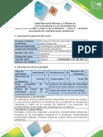 Guía de Actividades y Rúbrica de Evaluación - Tarea 5. Analizar Una Fuente de Contaminación Ambiental