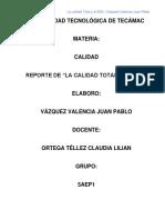 Reporte de Calidad Total y El Sgc en Empresas Mexicanas