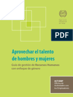 Guia de gestión de recursos humanos con enfoque de género