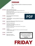 symposium schedule