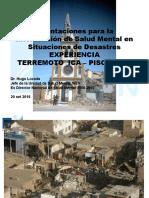 salud mental en caso de desastres
