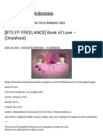 [BTS FF FREELANCE] Book of Love – (Oneshoot) BTS Fanfiction Indonesia