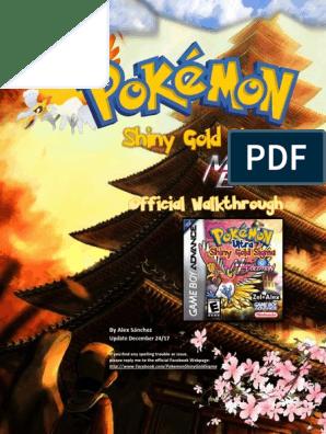 Shiny Gold Sigma Guide Pokemon Nintendo Franchises