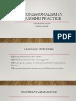 professionalism in nursing practice  portfolio