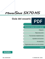 Powershot SX70 HS Advanced User Guide ES