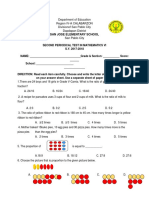 Grade 6 2nd Periodical Test With TOS & Answer Keys MATH