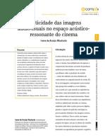 Plasticidade das imagens audiovisuais no espaço acústicoressonante do cinema - Irene de Araújo Machado