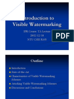 Introduction to Visible Watermarking