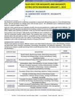 MLS ASCPi Exam Content Guidlines 2019
