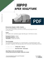 Hippo DIY Paper Craft