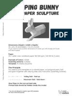 Conejo en paper craft