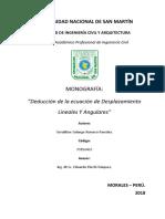 Deducción de La Ecuación de Desplazamientos Lineales y Angulares.