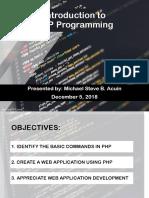 basic php module
