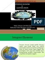 Ppt Integrasi Ekonomi & Custom Union