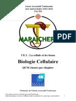 S1 - UE2 - Biologie Cellulaire QCM Maraichers 2012-2013