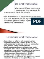 Literatura Oral Tradicional AGO2012