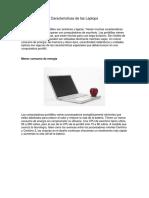 Características de Las Laptops