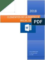 Elementos de La Pantalla Inicial de Word