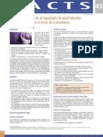 Articulo 1 - La Gestion de La Seguridad y La Salud Laborales en El Sector de La Ensenanza