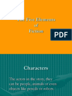5 Elements of Fiction Ppt