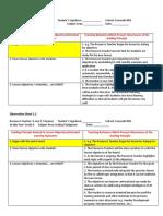 Observation Sheet 2