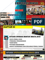 Paparan Kapolres Minsel Asistensi 5 Des.2018