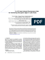 Development of a UV Laser-Induced Fluorescence Lidar for Monitoring Blue-green Algae in Lake Suwa