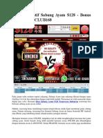Link Alternatif Sabung Ayam S128 - Bonus Win 8X BETCLUB168