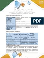 Guía de Actividades y Rúbrica de Evaluación - Paso 5 -Promoción de Una Conducta Saludable, Desde La Educación en Salud