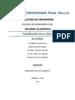 La Albanileria en El Peru