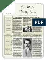 Newsletter Volume 9 Issue 39