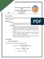 Informe Hidrodestilaion de Aceite Esencial