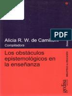 los obstaculos epistemológicos en la enseñanza