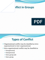 Conflict in Groups