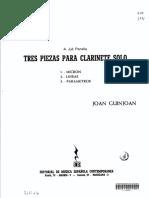 Guinjoan - Tres Piezas Para Clarinete Solo