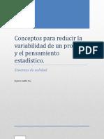 Conceptos Para Reducir La Variabilidad de Un Proceso y El Pensamiento Estadístico Act. 2 -Unidad 4