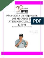 38093281 Propuesta de Mejora Para Modulos de Atencion Ciudadana 2010