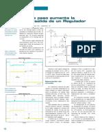 Transistor de paso aumenta la corriente de salida de un Regulador