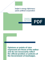 Azerbaijan's energy diplomacy