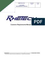 Customer Requirements Manual