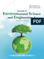 Journal of Environmental Science and Engineering,Vol.7,No.5A,2018
